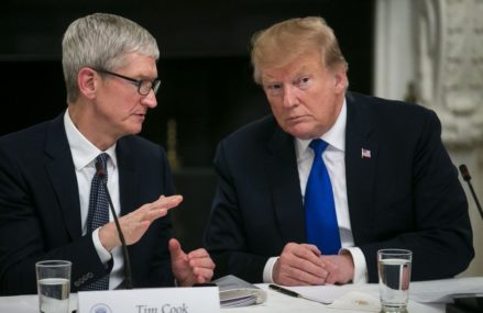 It's everything about employments , For Apple CEO Tim Cook and President Trump